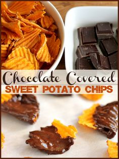 Chocolate Covered Sweet Potato Chips