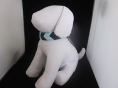 Blue Chevron Dog Collar