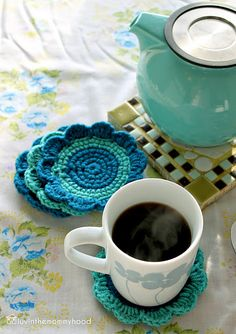 Tutorial for crocheted coasters