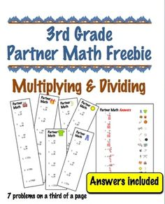 This math game says 3rd grade, but will make a great review of basic facts for 4th and 5th grades before end of year testing.