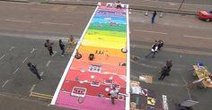 UKs first rainbow crossing in Brighton