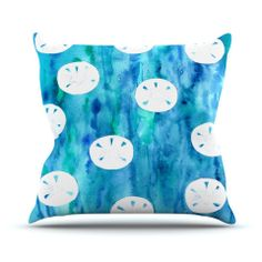 "Rosie Brown ""Sandollars"" Throw Pillow 