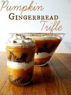 Pumpkin Gingerbread Triffle