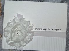 Wedding Greeting Card / happily ever after by PearlsandaPromise, $4.25