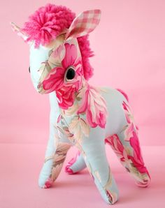 Zinnia Pony 50s Soft Toy Animal by Wolf and Willow