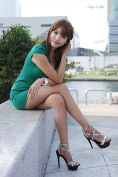 women fashion, girl, asian beauti, sexi leg, heel
