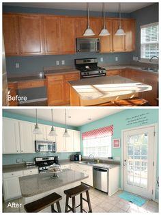 nicol fabi, diy painted kitchen cabinets, diy kitchen cabinets painting, diy kitchen cabinets makeover, kitchen colors, kitchen makeovers, home kitchens, painted cabinets, white cabinets