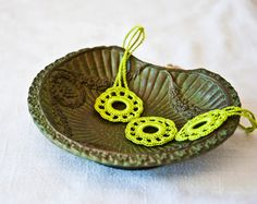 Pretty green crocheted necklace