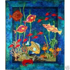 Fantasy Fish Quilt Pattern Underwater Tropical Reef DIY Lam Designs GRT w Batiks | eBay