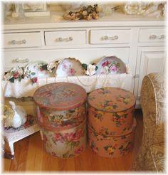 Vintage Hatboxes, Sewing Box
