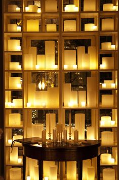 WOW! a wall of candle lights!