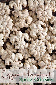 Coffee-Hazelnut Spritz Cookies