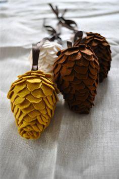 felt pine cones