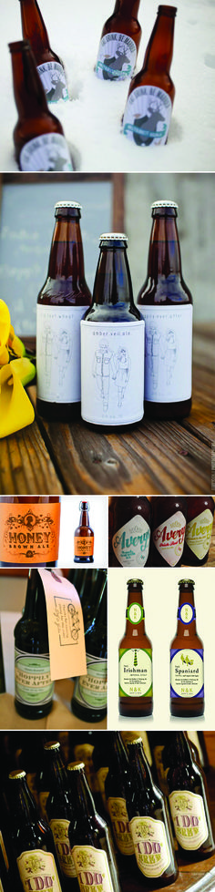 Custom Wedding Beer Labels..would be more expensive than just a keg of your home brew, but a cool idea!