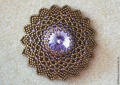 "Master Class Medal ""Sunny"" - Tisztességes Masters - Detailed tute but translate.  #Seed #Bead #Tutorials"