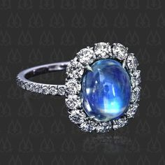 Blue moonstone ring #1-0317 - Leon Mege
