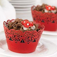 Decorative Cupcake Wraps - Red   Zuriana's Elegant Occasions