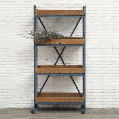 Nomadic Bookshelf in Blue | dotandbo.com