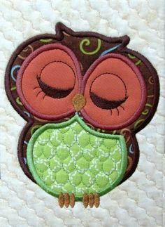 Cute owl appliques