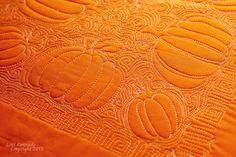 Pumpkin Free Motion Quilting