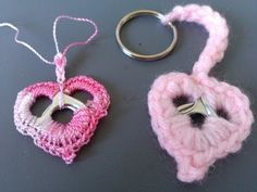 Crochet Soda tab Heart Key Ring - Super Easy