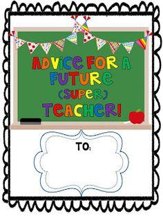 Student Teacher Goodbye Book {Freebie}