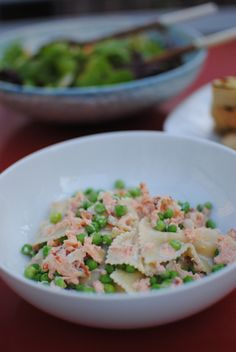 Eclectic Mom - Home - pasta with salmon andpeas
