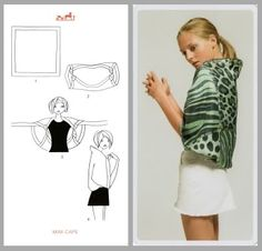 Make a shrug out of a scarf
