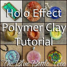 Holo Effect Polymer Clay tutorial. Create glowing color shift hologram effects like dichroic glass with polymer clay.