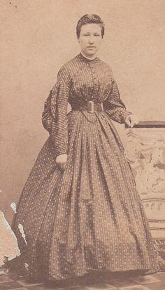 Civil War CDV Lady Day Dress ID Isa Vanfossen by LangdonRoadPhotos, $9.00