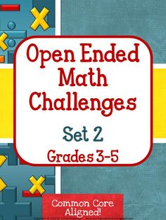 It's finally here!  Set 2 of the best selling open ended math challenge series!  Whether you use for whole class problem solving, enrichment, cooperative learning, or for a student needing something more, these 3 problems are high interest and challenging.  Each problem also has an enrichment component!