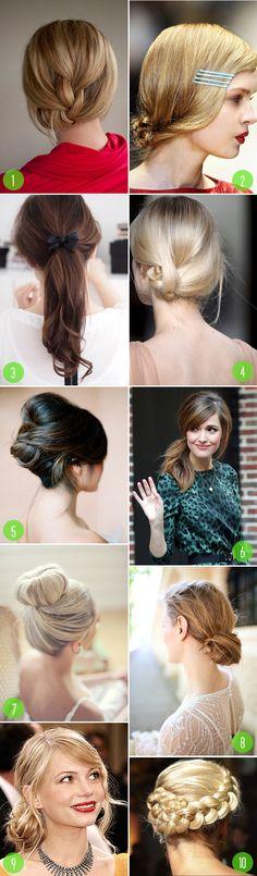 top 10: bridal hairstyles