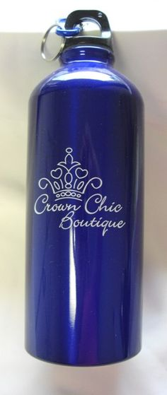 No reason to be thirsty while wearing your tiara! Our Crown Chic Boutique Water Bottle is the perfect solution! Made of stainless steel, and perfect for hot