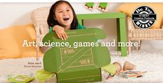 Cool gift idea - Kiwi Crate.  You can either buy one crate or sign up for a 12 month subscription.