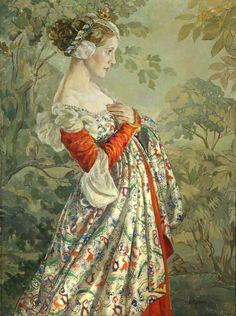 Portrait by Ethel Léontine Gabain (1883–1950). A French-English artist, she was the wife of print maker John Copley