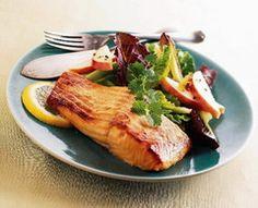 Mustard- and Brown Sugar-Rubbed Salmon