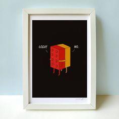 Fancy - Ill Never Lego Print