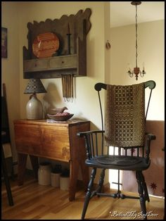 Love the chair & the wall cabinet!