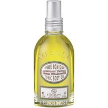 L'Occitane Almond Tonic Body Oil, for firmer skin. Smells divine too.