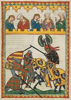 Codex Manase page 52r. ca.1300-1340. Universitatsbibliothek Heidelberg.