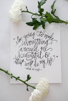 Calligraphy Art Print - Everything Beautiful - 8 x 10 || ShannonKirsten || Etsy