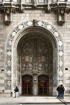 CHICAGO, IL :: Aesop's Fables Stone Screen Entrance, Tribune Tower (1925), 435 North Michigan Avenue - by lumierefl, via Flickr