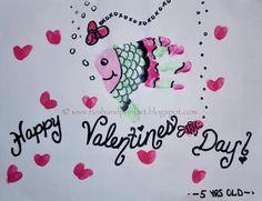 Handprint Fish Valentine's Day Craft for Kids