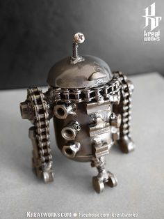 Steampunk  mini Droid small item by Kreatworks on Etsy, $48.00