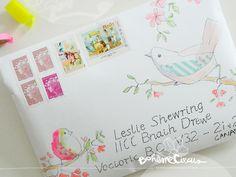 snailmail, bird envelop