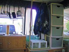 good idea for pop up camper storage