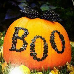 Pumpkin with button boo!