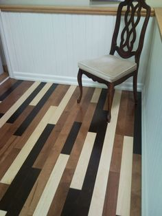 Great use of mixed hardwoods