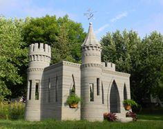 andrey rudenko completes 3D printed concrete castle in minnesota