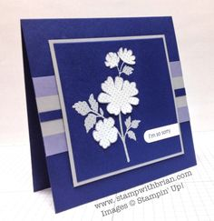 Gifts of Kindness, Teeny Tiny Wishes, Stampin' Up!, Brian King, PPA194 These colors are wonderful together ❤️   And notice the focal image which was embossed with Smokey Slate and then the blossoms were embossed in white, snipped, and layered on top!